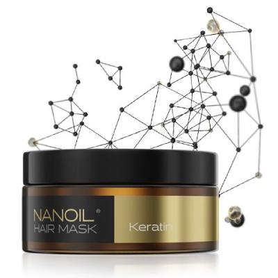 Masca de păr cu cheratină Nanoil